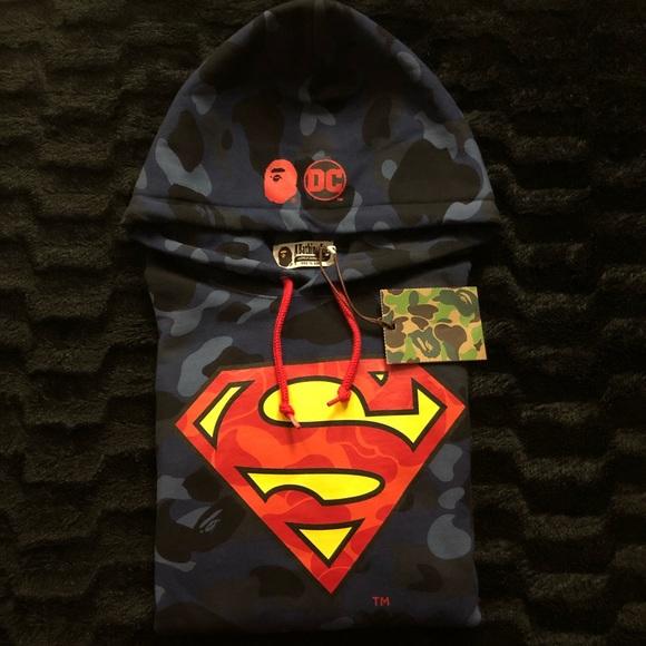 ed483d4ea45c Bape Shirts | X Dc Comics Superman Hoodie Supreme | Poshmark